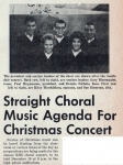 Getting Ready for the Christmas Concert (12/13/61 - 1)