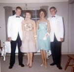 Betsy Heeter & Jean Goddard with their prom dates.