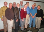 The 1961 lake Conference Football Champions: Jim, Mark, Mike, Steve, Ed, Coach, Russ, Rick, Don, & Weave